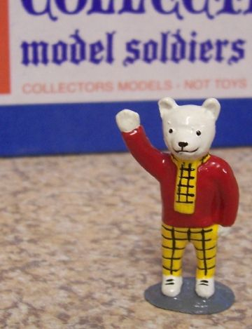 "Rupert Bear's Friends 1 3/4"" High :- Rupert Bear Waving - Fully Painted"